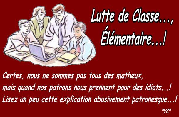 LUTTE DE CLASSE ÉLÉMENTAIRE