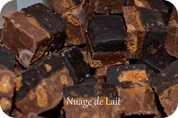 fudges aux 2 chocolats et au spéculoos
