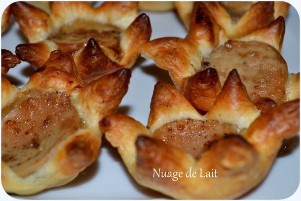 tartelettes boudin blanc et confit de figues et pommes