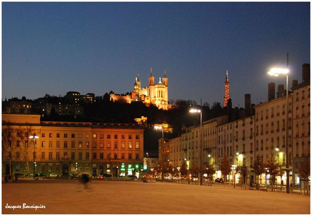 Lyon Place Bellecour ND de Fourviere