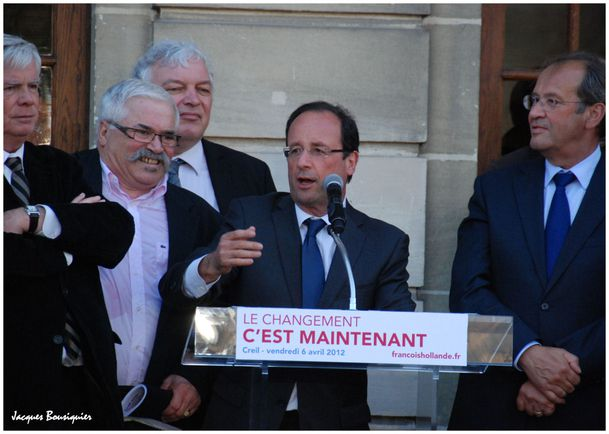 Francois Hollande Creil 6 avril 2012 - 5