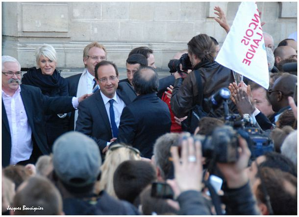 Francois Hollande Creil 6 avril 2012 - 2