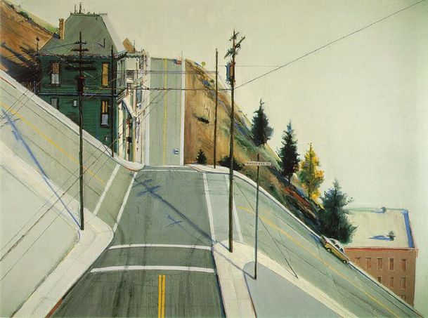 Wayne Thiebaud, 24th Street Intersection, 1977 1938