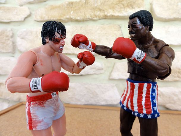 ROCKY VS APOLLO NECA