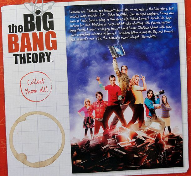 THE BIG BANG THEORY SHELDON FIGURE CARDBACK