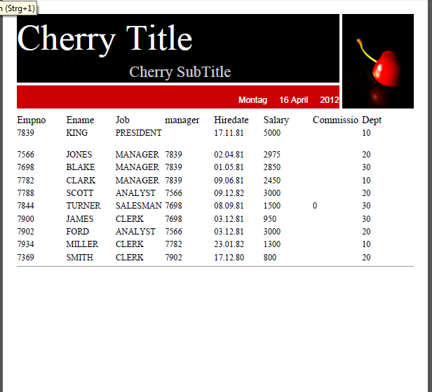 jrxml2pdf cherry layout