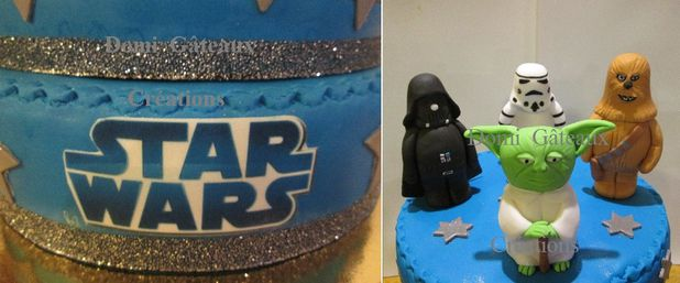 gateau anniversaire pate a sucre star wars secrets. Black Bedroom Furniture Sets. Home Design Ideas