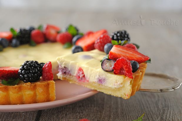 Tarte cheesecake et fruits rouges (15)
