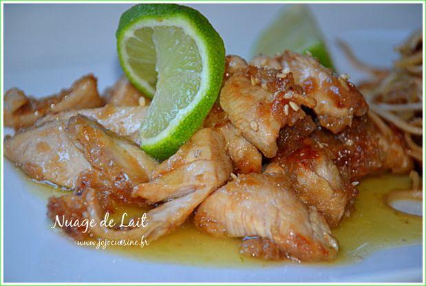 poulet au citron vert et gingembre