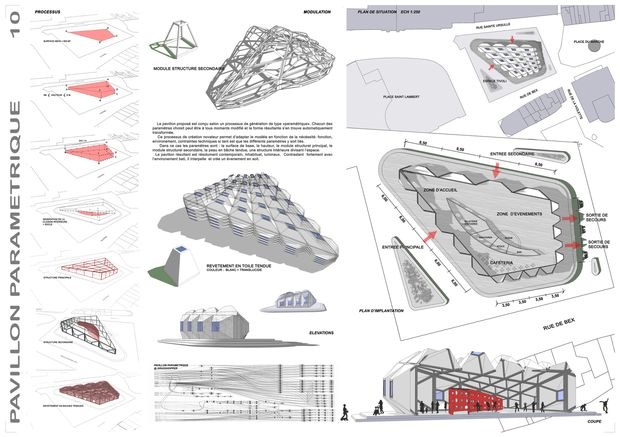 Pavillon param trique an architecture lab for Architecture parametrique