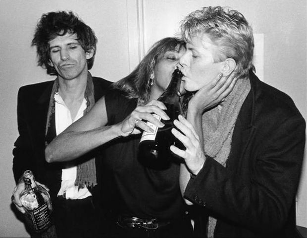 Keith Richards Tina Turner Bowie