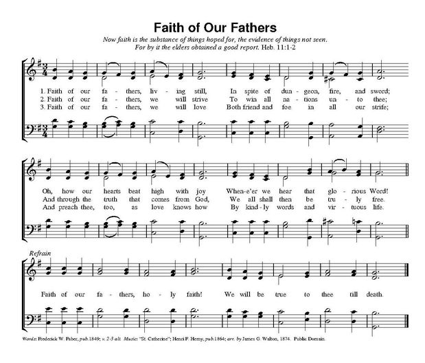 Faith of Our Fathers,Frederick William Faber,parousie.over-