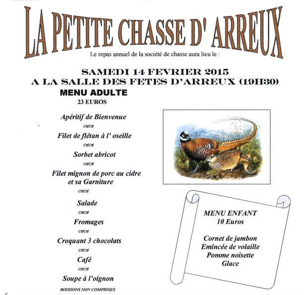 Repas Chasse 2015
