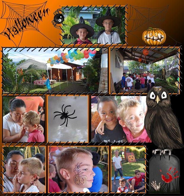 2010-10-30 journée halloween clément & camille