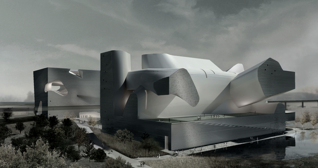 STEVEN HOLL ECOLOGY MUSEUM AND PLANNING MUSEUM NEAR TIANJIN