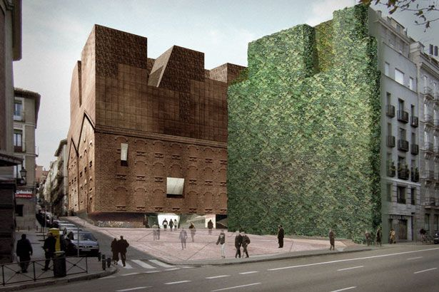 Caixaforum madrid render by herzog de meuron architects