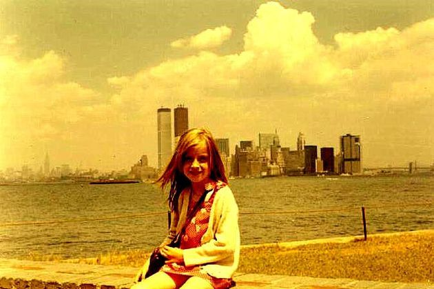 Valérie et le World Trade Center en 1971