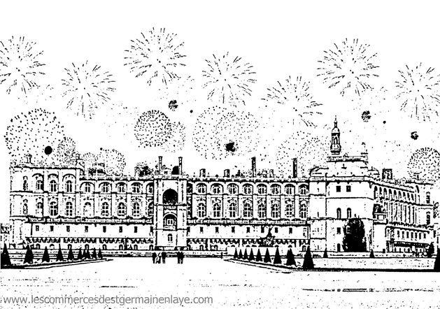 Fête Nationale et son feu d'artifice le 13 juillet à Saint-Germain-en-Laye