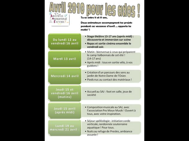 Affiche A3 Avrilr 2010