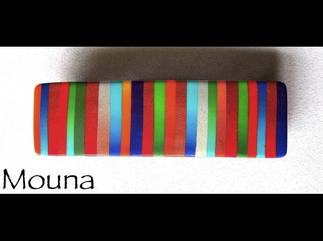 Barrette La vie en couleurs 1   VENDU