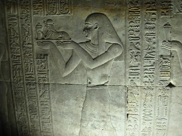 Temple de Edfou en haute Egypte, bas relief