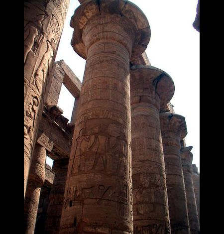 Colonnade, Temple de Karnak