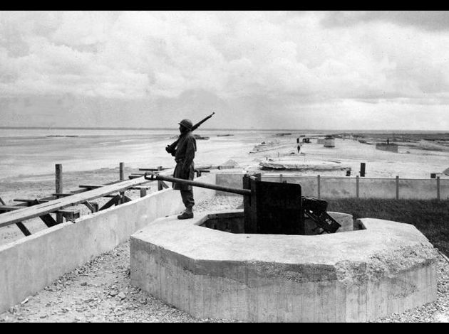 One year after the D-Day landings in Normandy a lone US sol