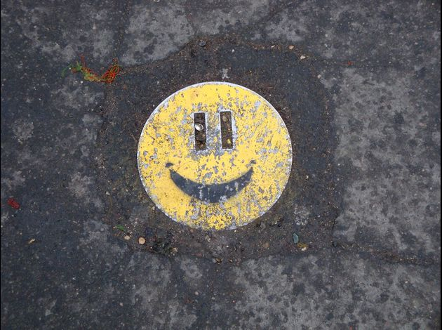 smiley street-art trottoir 1