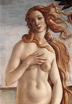 Boticelli-Vnus sortie des eaux-vers 1485-Wikipedia