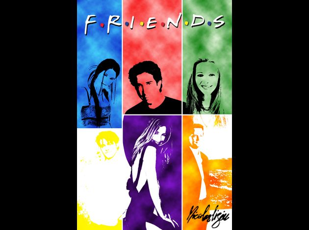 Affiche acteurs friends