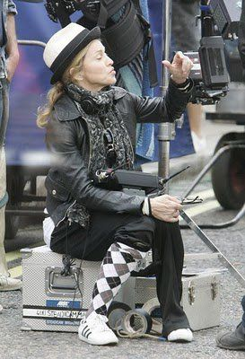 Madonna on the set of WE in London 20100808 026