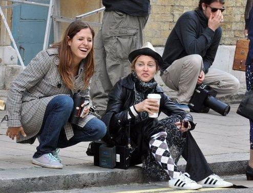 Madonna on the set of WE in London 20100808 085