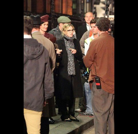 Madonna films WE in London 20100830 09