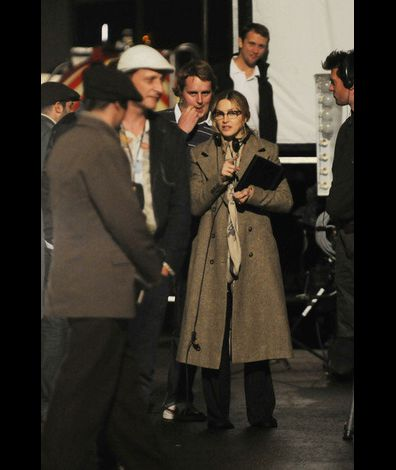 Madonna on the set of WE London 20100831 34