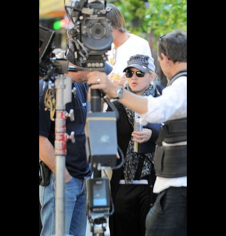 Madonna on the set of WE in NY 20100915 01