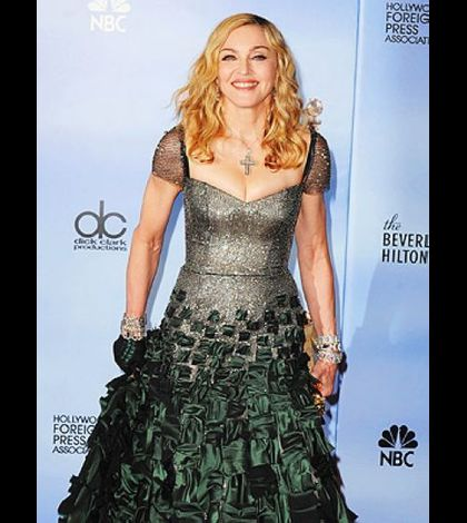 Madonna 2012 Golden Globes with a dress to go to battle