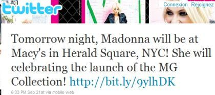 Madonna MG Collection launch at Macy's Herald Square NY