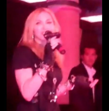 Madonna talks inside Material Girl Dance Party at Macy's 01