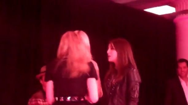 Madonna talks inside Material Girl Dance Party at Macy's 08