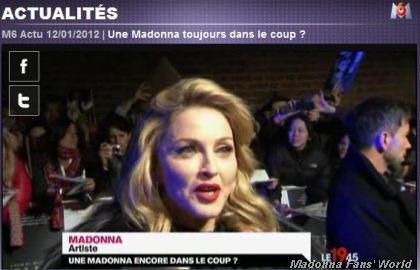 Madonna WE UK premiere London French TV M6 3