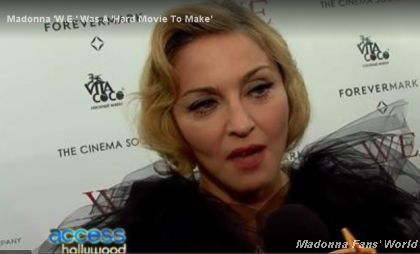 Madonna WE US premiere New York 20120123 Access Hollywood