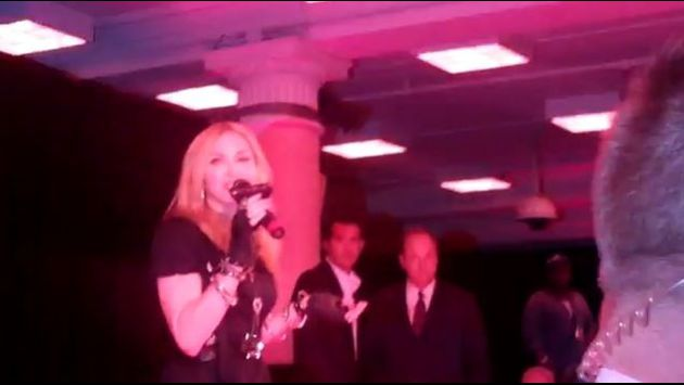 Madonna talks inside Material Girl Dance Party at Macy's 02