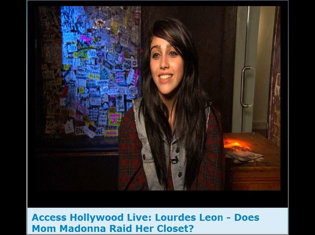 Madonna's daughter Lourdes interview Access Hollywood 1