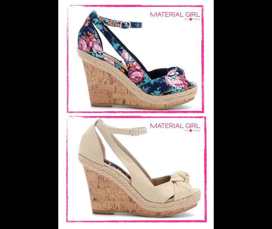 Material Girl Collection Cork Wedge Sandals 1