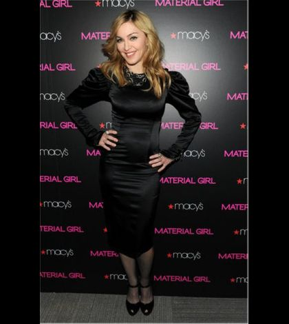 Madonna promoting the Material Girl Collection 06