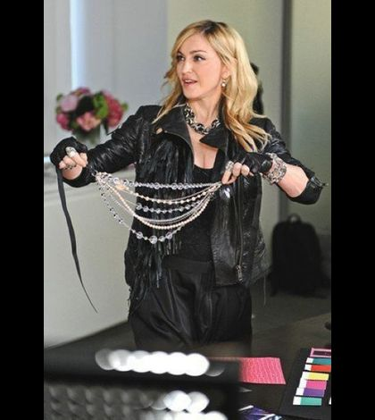 Madonna promoting the Material Girl Collection 07