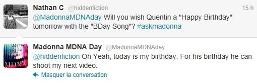 Madonna on Twitter MDNA Day 20120326 13 Tarantino