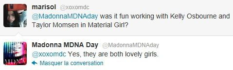 Madonna on Twitter MDNA Day 20120326 23 Kelly Taylor