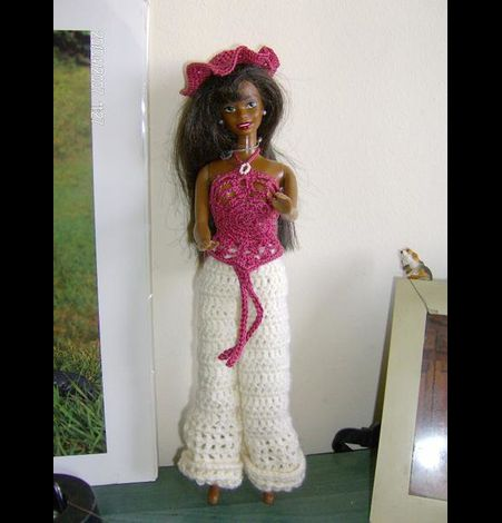Vêtements Barbie crochet