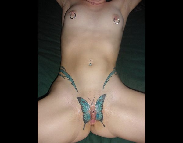 Pussy Tattoo Butterfly 017
